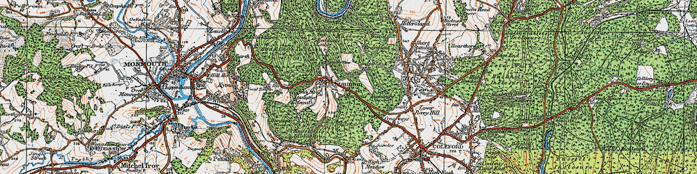 Old map of Staunton in 1919