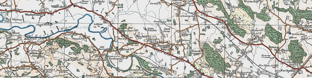 Old map of Tin Hill in 1920
