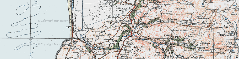 Old map of Ynysycapel in 1922