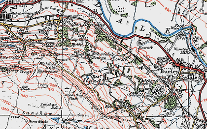 Old map of Ashlar Chair in 1925