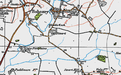 Old map of Wimble Toot in 1919