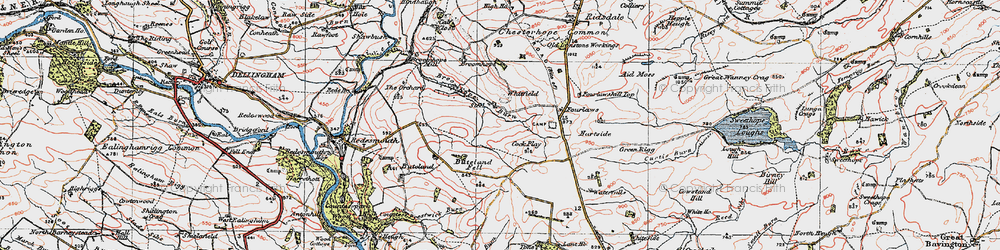Old map of Tone Hall in 1925