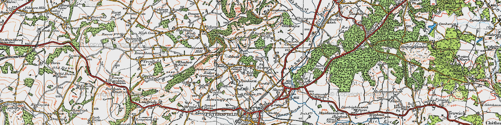 Old map of Steep in 1919