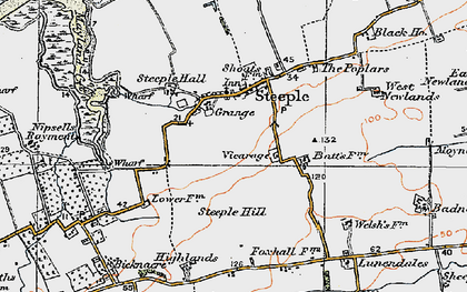 Old map of Steeple in 1921