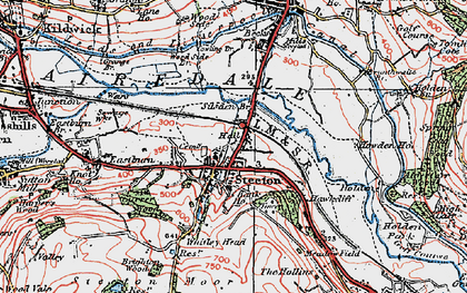 Old map of Steeton in 1925