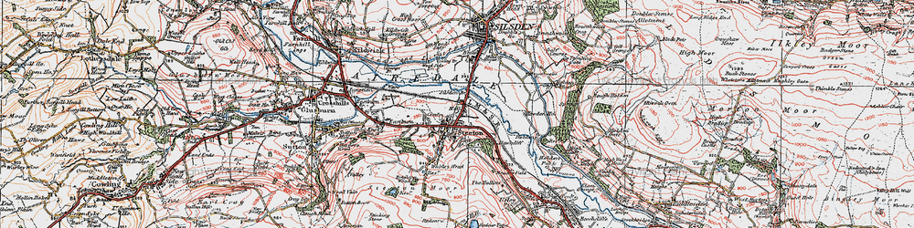 Old map of Airedale in 1925