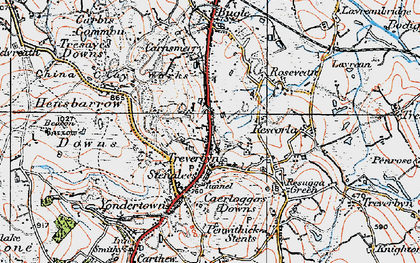 Old map of Stenalees in 1919