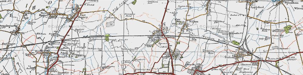 Old map of Steventon in 1919