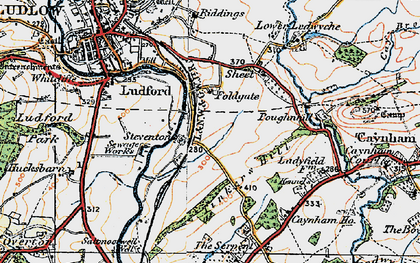 Old map of Tinkers Hill in 1920