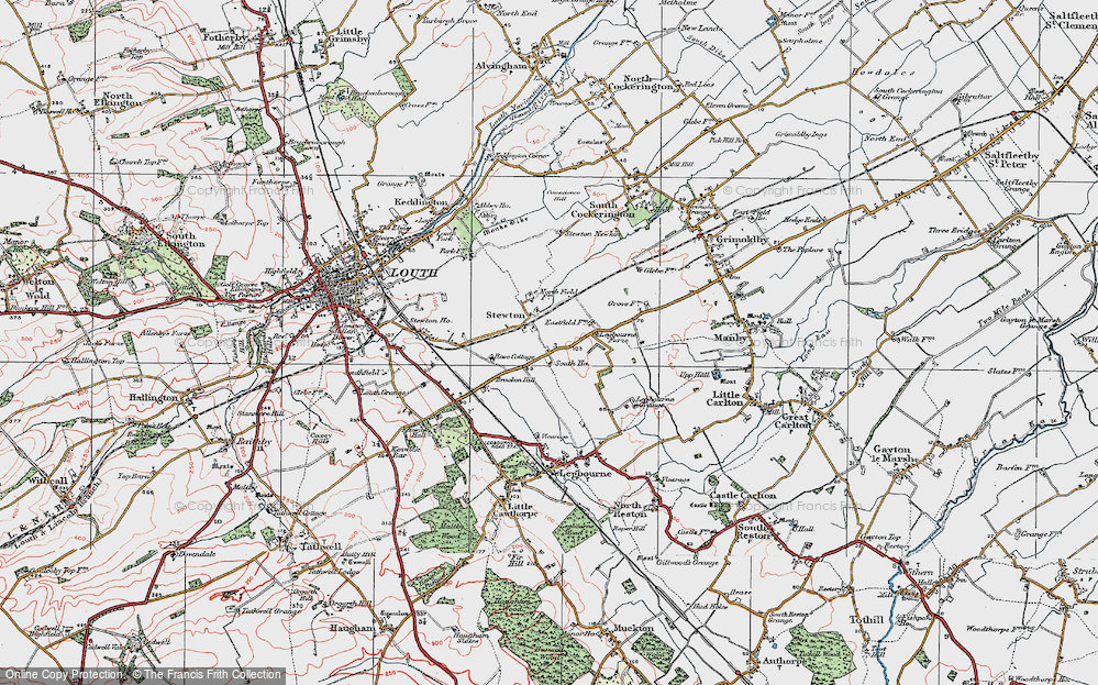 Old Map of Stewton, 1923 in 1923