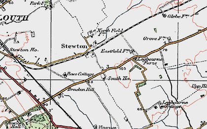 Old map of Legbourne Furze in 1923