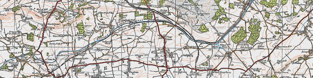 Old map of Stibb Green in 1919