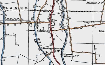Old map of Whyte Acre in 1923
