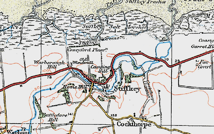 Old map of West Sand in 1921