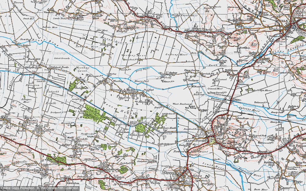 Old Map of Stileway, 1919 in 1919