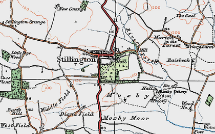 Old map of Stillington in 1924