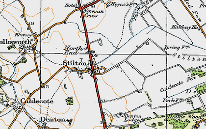 Old map of Stilton in 1920