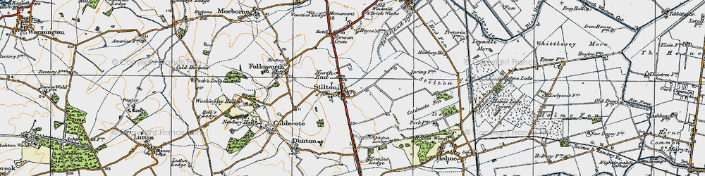 Old map of Stilton in 1920