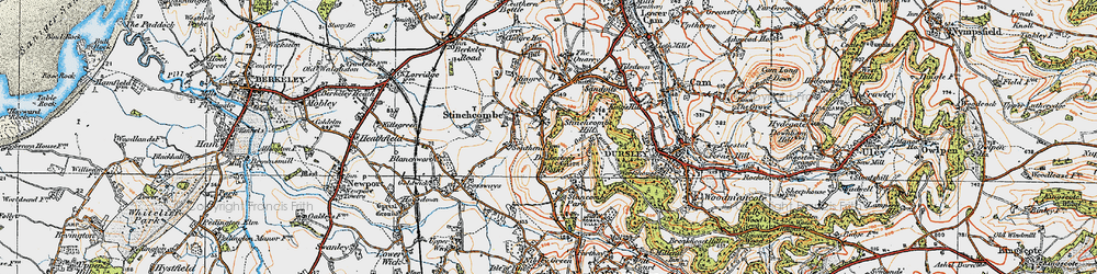 Old map of Yercombe Lodge in 1919