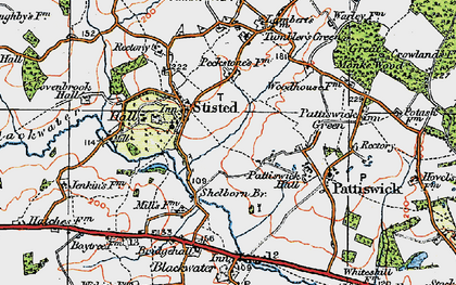 Old map of Stisted in 1921
