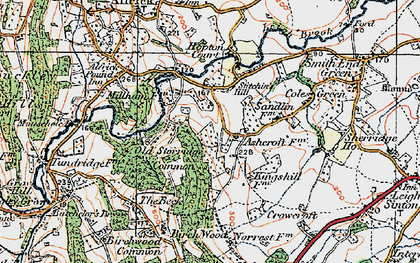 Old map of Ashcroft Ho in 1920