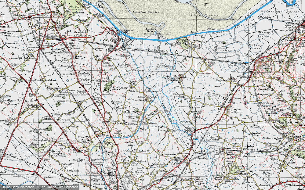 Old Map of Historic Map covering Ashwood Ho in 1924