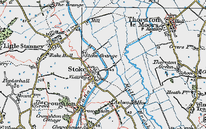 Old map of Ashwood Ho in 1924