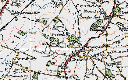 Old map of Lilystone Hall in 1920