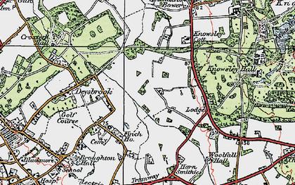 Old map of Stockbridge Village in 1923