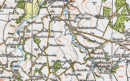 Old map of Stockdalewath in 1925