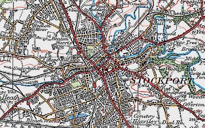 Old map of Stockport in 1923
