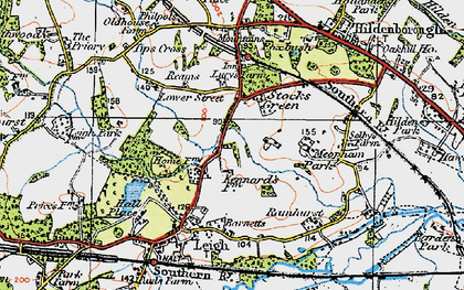 Old map of Tips Cross in 1920
