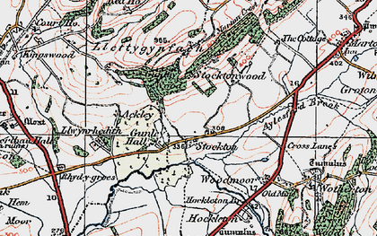 Old map of Aylesford Brook in 1921