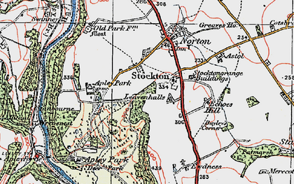 Old map of Leavenhalls, The in 1921