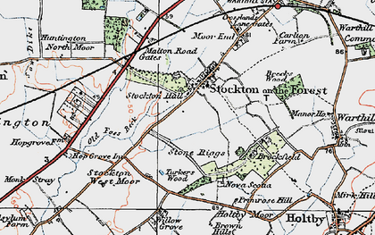 Old map of Old Foss Beck in 1924