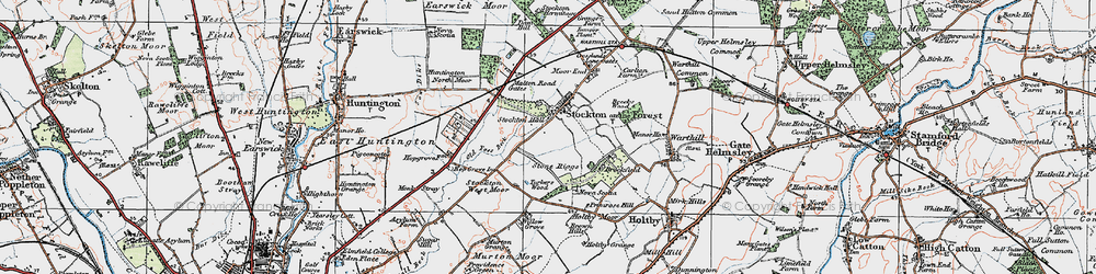 Old map of Willow Grove in 1924