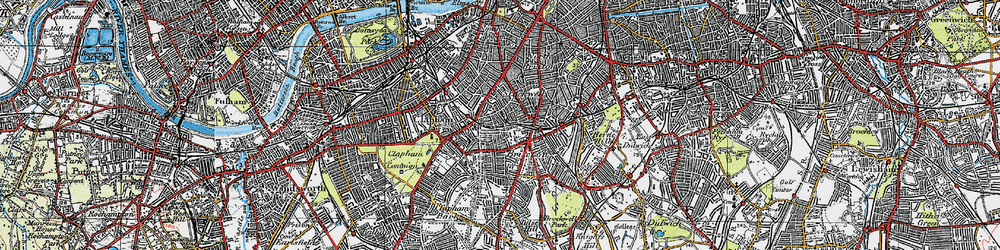 Old map of Stockwell in 1920