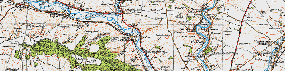 Old map of Stoford in 1919
