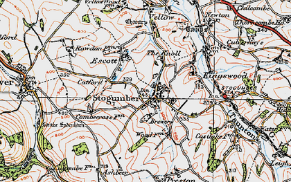 Old map of Stogumber in 1919