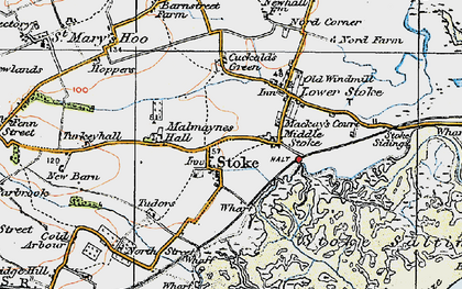 Old map of Stoke in 1921