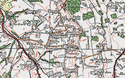 Old map of Wolferlow Park in 1920