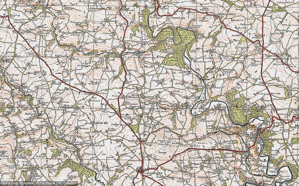 Old Map of Stoke Climsland, 1919 in 1919