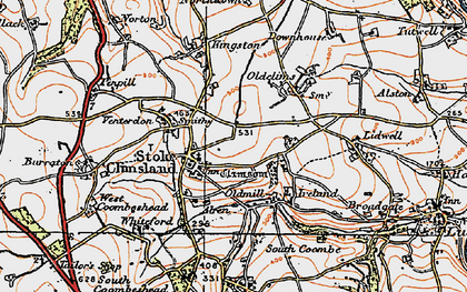 Old map of Stoke Climsland in 1919