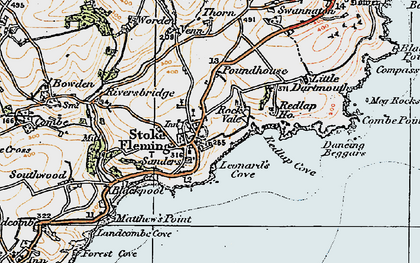 Old map of Leonard's Cove in 1919