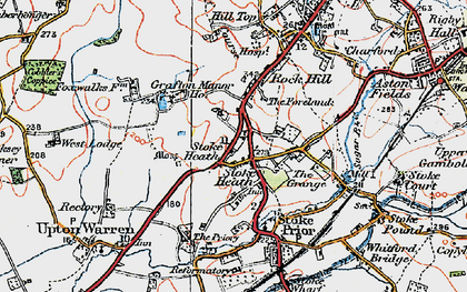 Old map of Avoncroft Mus in 1919