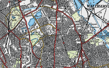Old map of Stoke Newington in 1920