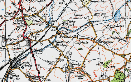 Old map of Whitford Bridge in 1919