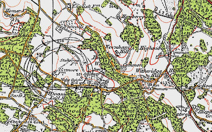 Old map of Stoke Row in 1919