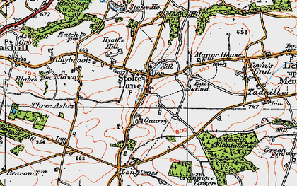 Old map of Stoke St Michael in 1919
