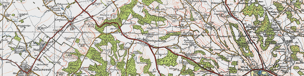 Old map of Stokenchurch in 1919